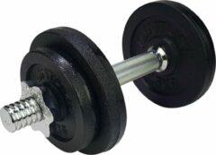 Zilveren Kaytan sports - dumbell set - halter set - gewichten - 10 kg - 6 halterschijven 2 x 2 kg - 4 x 1 kg - 1 x halter 1.8 kg - inclusief trainingshandleiding - 10.3 kg