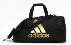Adidas Training Sporttas Polyester 2 in 1 Zwart/Goud Medium