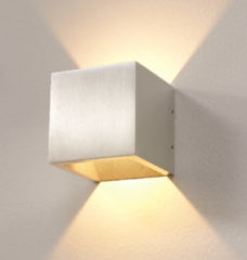 LT-Luce Wandlamp LED Cube ALU IP54