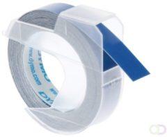 Dymo 3D labeltape 9 mm x 3 m plastik glanzend blauw