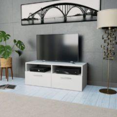 VidaXL Tv-kast 95x35x36 cm spaanplaat wit