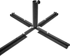 Zwarte Sunburst - Parasolvoet kruispoot - Zwart