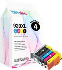 Cyane Inktdag Huismerk Inktcartridge / Alternatief voor HP 920 XL multipack zwart + kleur set 4 pak
