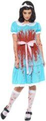 Blauwe Smiffys Living Dead Dolls Kostuum   Bloody Mary Schuldig Schoolmeisje   Vrouw   XL   Halloween   Verkleedkleding