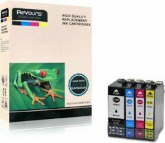 ReYours® inktcartridges voor Epson 34XL T34XL E34XL multipack van 4 kleuren voor Epson Workforce Pro WF3720DWF ,WF-3725-DWF