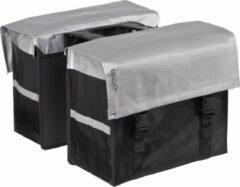Bagoo Dubbele Fietstas Bisonyl 58 Liter Zilver/zwart
