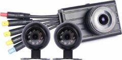 Zwarte Motocam X2V 3CH FullHD vrachtwagen dashcam voor auto