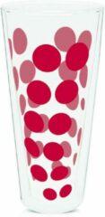 Zak!Designs Dotdot Latte macchiatoglas - Dubbelwandig - 40 cl - Rood