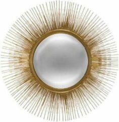 Atmosphera Zonnespiegel Goud - Wandspiegel - Spiegel - D 58 cm - Metaal