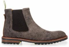 Grijze Floris van Bommel 20093 Dark Grey H-Wijdte Boots chelsea-boots