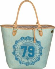 Brunotti Beach bag Peacock – Shopper – Blauw