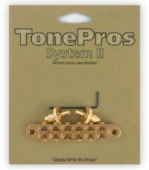Tonepros T3BP-G Tuneomatic inch goud, gekerbt