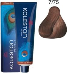 Wella Koleston Coloration capillaire 60 ml, 7/75 - Blond moyen/brun acajou haarkleuring