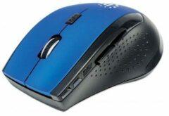 Manhattan 179294 RF Draadloos Optisch 1600DPI Zwart, Blauw Ambidextrous muis