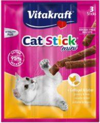 Vitakraft Cat-Stick Mini 3 stuks - Kattensnack - Gevogelte&Lever - Kattenvoer