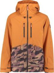 Bruine O'Neill Texture Jacket Wintersportjas Heren - Maat S