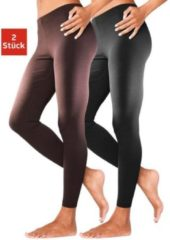 Naturelkleurige Basic legging in set van 2, VIVANCE