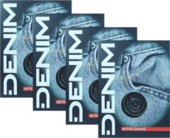 Denim Black Aftershave lotion 4 x 100 ml