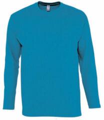 Blauwe T-Shirt Lange Mouw Sols MONARCH COLORS MEN