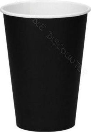 Afbeelding van Packadi Kartonnen Koffiebeker 8oz 240ml zwart - 100 Stuks - wegwerp papieren bekers - drank bekers - milieuvriendelijk