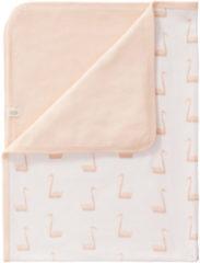 Roze Fresk baby wiegdeken Swan 80x100 cm