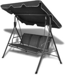 VidaXL Schommelstoel voor in de tuin (zwart)