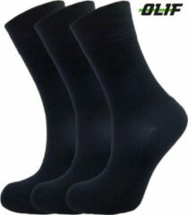 Hoogwaardig Bamboe sokken | Bamboe Unisex sokken | Maat 39-42 | 6 paar - Zwart - Maat 39-42| Olif Socks | Unisex Bamboe sokken