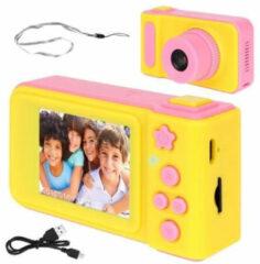 Merkloos / Sans marque Kids Digitale Foto Camera 3MP / Videocamera 1080P - Draagkoord - Roze