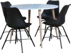 Dynamic24 5tlg. Essgruppe NAPOLI 105 Sitzgruppe Tischgruppe Esstisch Esszimmertisch