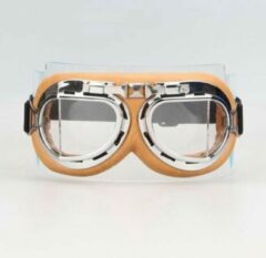 Creme witte CRG Creme pilotenbril helder glas