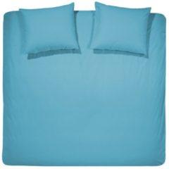 Dekbedovertrekset katoen 260 x 200/220 (63) turquoise uni Damai