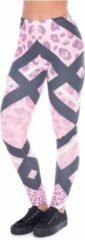 Roze ZUMPREMA Pink Leopard stripes Sport Legging