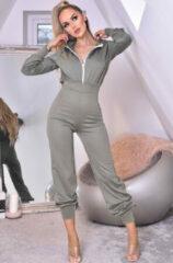 Groene Catwalk Tanya hooded loungewear jumpsuit