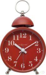 Rode NeXtime Single Bell - Wekker / Tafelklok - Metaal - 16x9,2x5,4 cm - Rood
