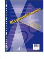 Witte Ringbandinterieur Kangaro 17r gelinieerd + voorlijn 150 vel K-56020