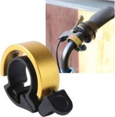 Merkloos / Sans marque Fietsbel – Ring Fietsbel - Aluminium Fietsbel - Classic Fietsbel - Fietsbel Small 15mm – Goud