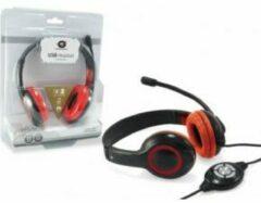 Conceptronic CCHATSTARU2R Headset Hoofdband Rood