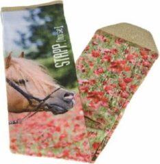 Roze Stapp Horse Kniekous Flower Print Ruitersokken paarden print - maat 35/38