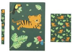 A Little Lovely Company schrijfset Jungle junior papier groen 3-delig