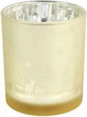 Decostar Theelichthouder Dottie 7 X 8 Cm Glas Goud