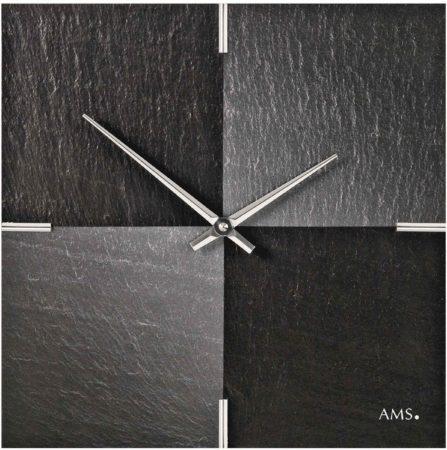 Afbeelding van Zwarte AMS Wandklok Leisteen - Aluminium 9520
