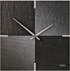 Zwarte AMS Wandklok Leisteen - Aluminium 9520