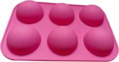 Roze Akyol Siliconen Bakvorm - Halve Bollen - tiktok bakvorm -bakken - chocolade bollen -chocolade bakvorm -siliconen halve bollen -bakvorm bol -siliconen halve bol - Chocolade - Muffins - Taartjes - Fondant - Marsepein - BPA vrij - 6 stuks