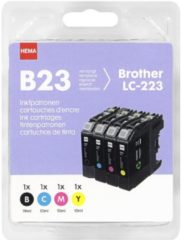 HEMA HEMA B23 4-pak Vervangt Brother LC-223