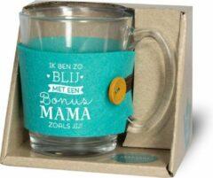 Miko Tijd voor thee - Theeglas - Bonus Mama