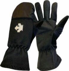 Witte Descente Wombat - Fietshandschoenen Winter - Met Regenbescherming - Zwart - Maat S