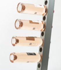 Roestvrijstalen Ferro Duro Wijnrek voor aan de muur - geschikt voor 20 flessen - RVS