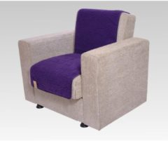 Sesselschoner Sitzflächenschoner Wolle ca. 175 x 47 cm lila Linke Licardo lila