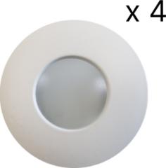 Witte Saniclass verlichtingsset LED 4 spots+arm SD-2012-04