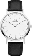 Zilveren Danish Design watches unisexhorloge London White Silver/Black Large IQ10Q1235